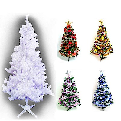 摩達客 8尺豪華夢幻白色聖誕樹(飾品組/不含燈)