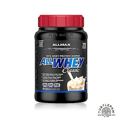 加拿大ALLMAX奧美仕ALLWHEY CLASSIC經典乳清蛋白香草口味1瓶(907公克