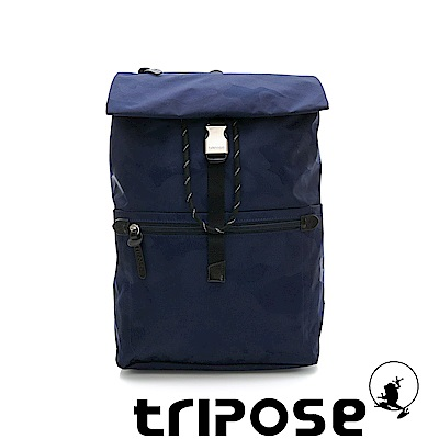 tripose 迷彩系列輕量休閒高機能束口單扣後背包 深藍