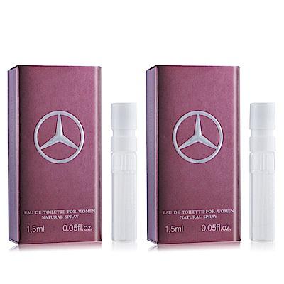 Mercedes Benz 賓士 Woman 爵色佳人香水1.5mlX2 EDT