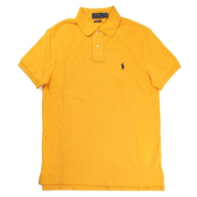 Polo Ralph Lauren 經典小馬Logo金黃色短袖網眼Polo衫(Custom Slim Fit)