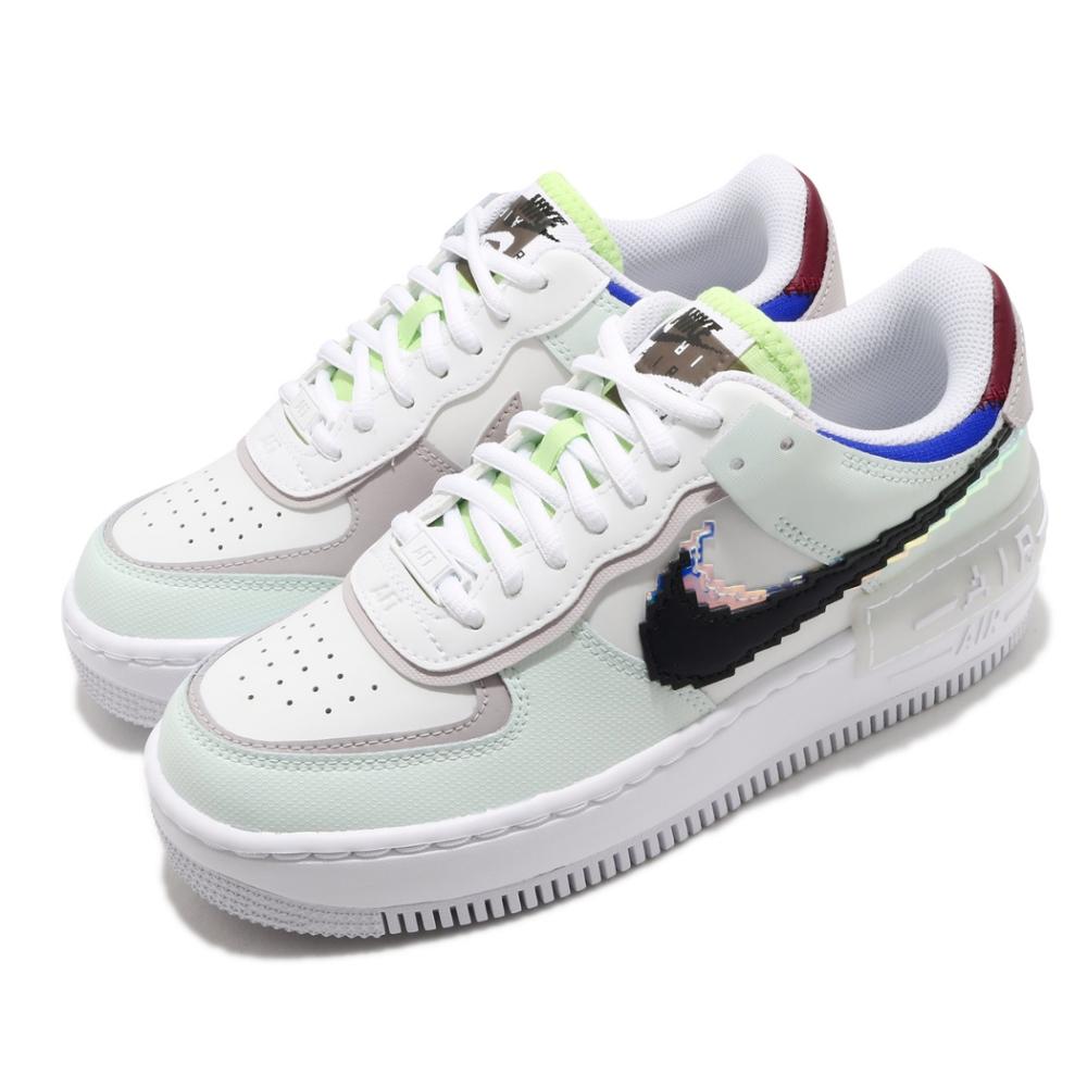 Nike 休閒鞋 AF1 Shadow 運動 女鞋 經典款 厚底 舒適 簡約 穿搭 球鞋 白 綠 CV8480300