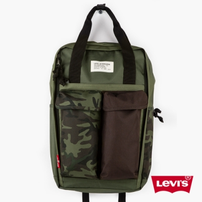 Levis 男女同款 L1機能後背包 重軍裝迷彩 都會電腦包 手提 後背兩用