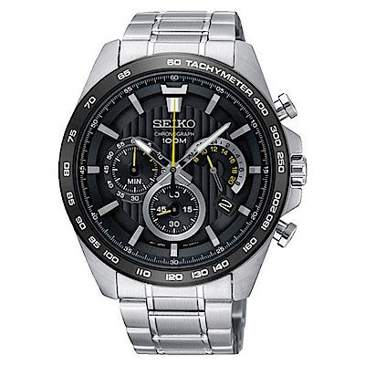 SEIKO 精工/豪華三眼計時腕錶/8T63-00G0D/SSB303P1