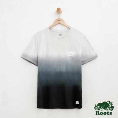 男裝Roots 漸層短袖T恤-灰色