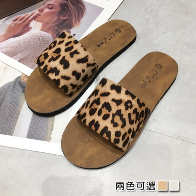 KEITH-WILL時尚鞋館好感印象個性豹紋拖鞋