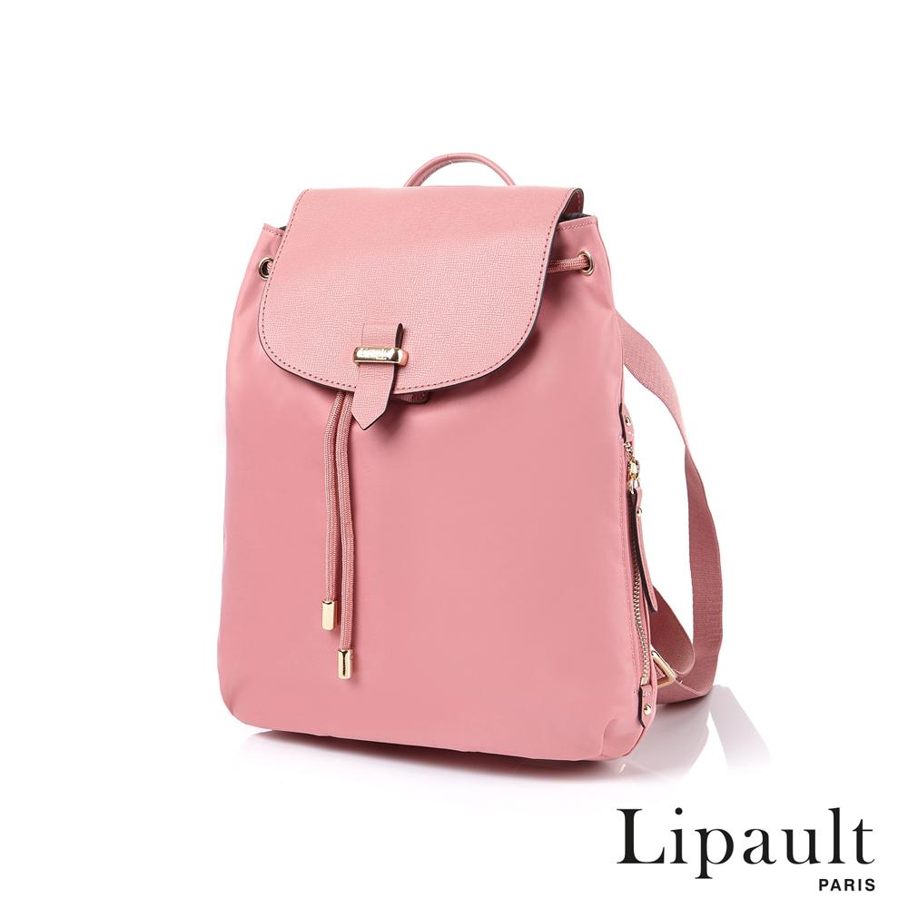 法國時尚Lipault Plume Avenue優雅後背包S(亮桃紅)