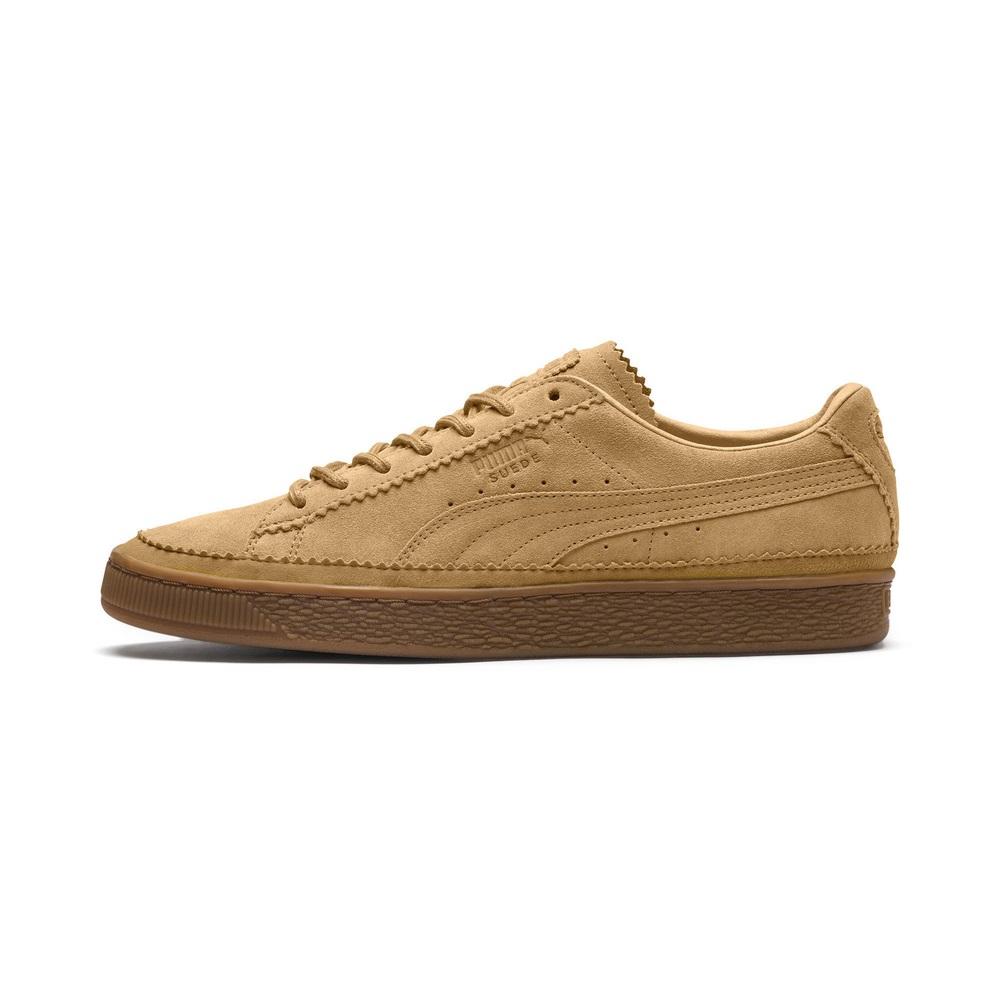 PUMA-SuedeClassicBrogue男女復古籃球運動鞋-乳糖棕