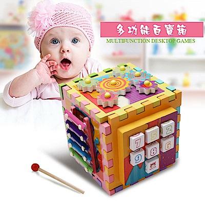 經典木玩 多功能六面幾何形狀兒童益智玩具(兒童教育玩具)(12m )