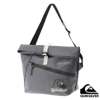 【QUIKSILVER】BLOCK ROLL BAG 防潑水肩背包 灰