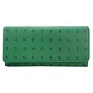 agnes b.滿版字母防刮翻蓋長夾(綠)