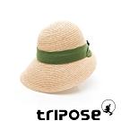 tripose INA 100% Raffia入門款不對稱設計草帽(飾帶-綠)