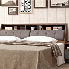 文創集 波德 現代5尺亞麻布雙人床頭箱(不含床底&床墊)-154x30x99cm免組