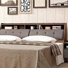 文創集 波德 現代6尺亞麻布雙人加大床頭箱(不含床底&床墊)-184x30x99cm免組
