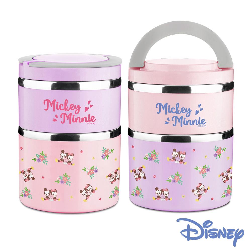 [買一送一] 迪士尼櫻紛米奇#304不銹鋼雙層保溫大餐桶1.5L(快)