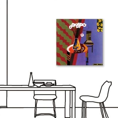 24mama掛畫-單聯式 藝術抽象 花卉 油畫風無框畫 60X60cm-藝術家的客廳