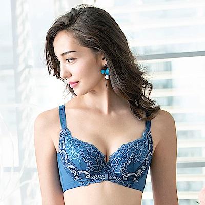 華歌爾-雙挺 D-E 罩杯機能胸罩(藍)摩奇X集中-舒適包覆