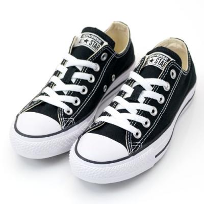 CONVERSE ALL STAR 男女款 低筒帆布鞋-黑 M9166C