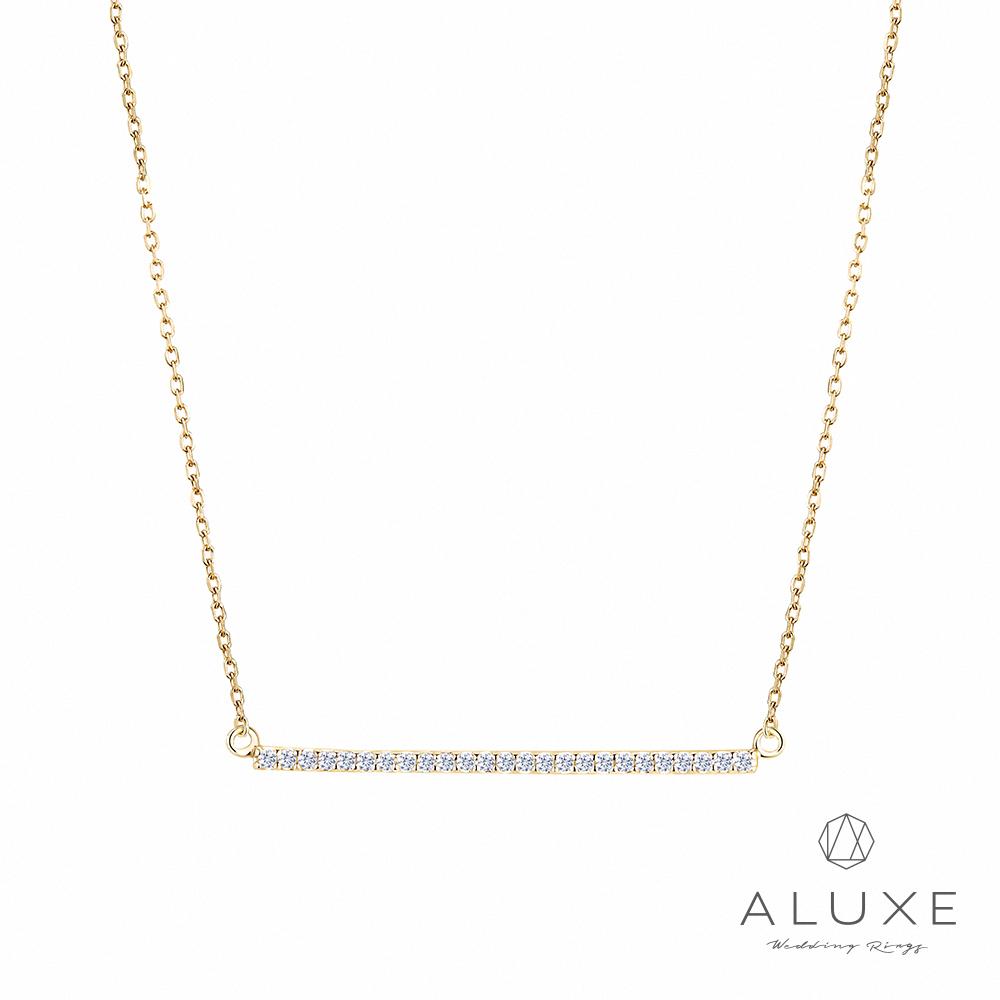 A-LUXE 亞立詩 10K黃金0.15克拉讚石項鍊