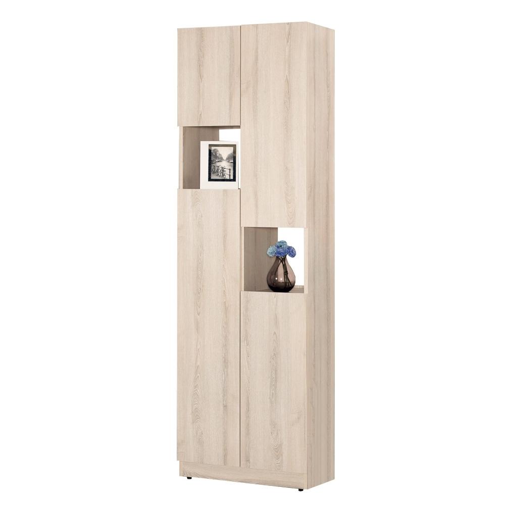 Boden-達克2尺四門高鞋櫃/玄關收納櫃/展示置物櫃/隔間櫃-121x39x196cm