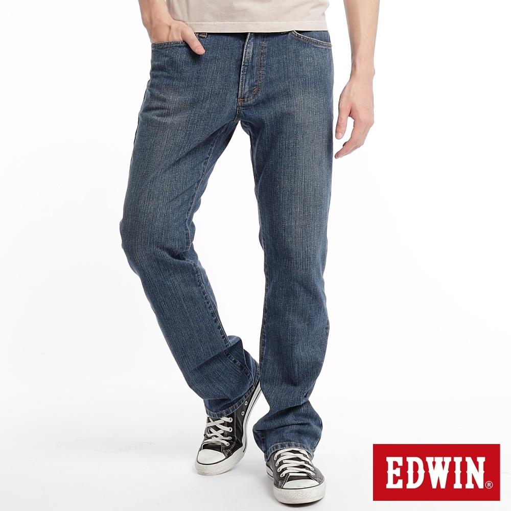 EDWIN 503 FLEX 伸縮中直筒 高腰牛仔褲-男-漂淺藍