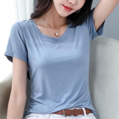 2F韓衣-簡約百搭圓領短袖造型上衣-3色(S-2XL)