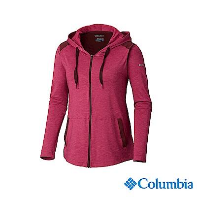 Columbia 哥倫比亞 女款-UPF50快排外套-紫紅 UAL25360PD