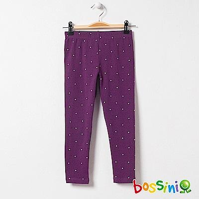 bossini女童-印花針織貼身褲05深紫