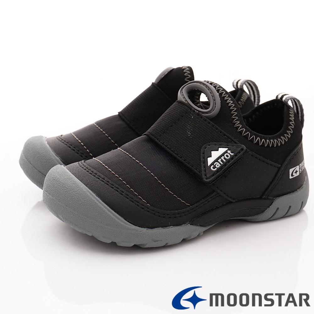 日本Carrot機能童鞋 2E玩耍速乾襪套鞋 TW2326黑(中小童段)
