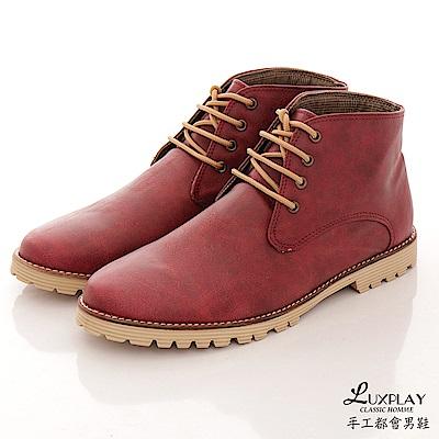 LUXPLAY 男款 英倫時尚 百搭韓版休閒鞋 WK907酒紅 @ Y!購物