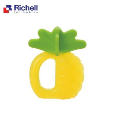 Richell 利其爾 寶寶咬咬系列固齒器 - 鳳梨 (附盒)