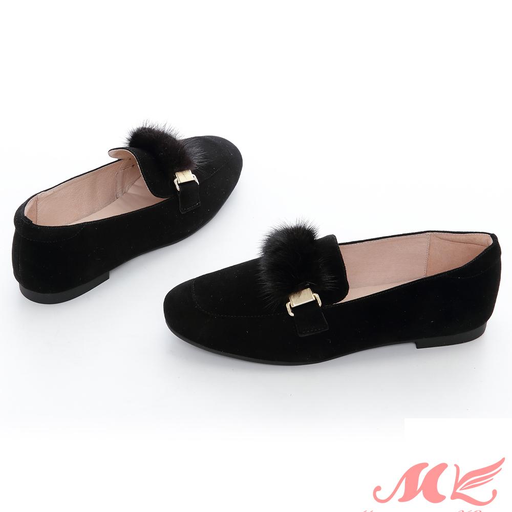 MK 英倫風毛球質感樂福鞋 2色 @ Y!購物