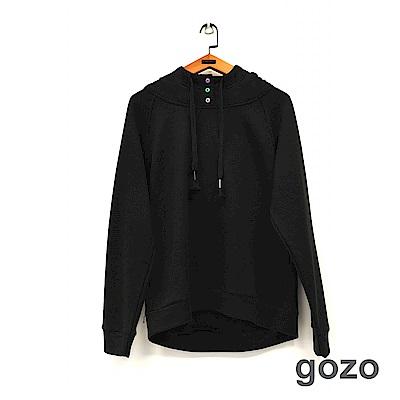 gozo 馬卡龍色釦抽繩連帽上衣(二色)