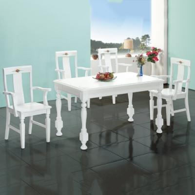 MUNA 亞諾4.6尺白色餐桌(不含椅) 138X80X75cm