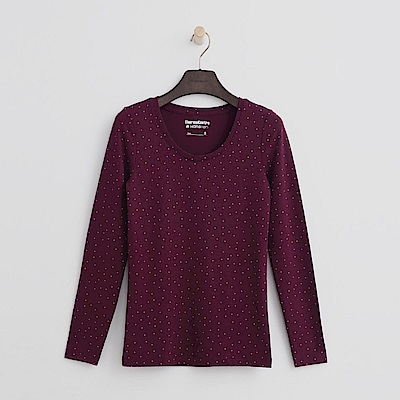 Hang Ten - 女裝-ThermoContro恆溫多功能智慧暖溫圓領上衣-紫紅
