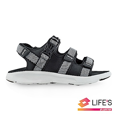 LOTTO 義大利 女 潮流織帶涼鞋 (黑)