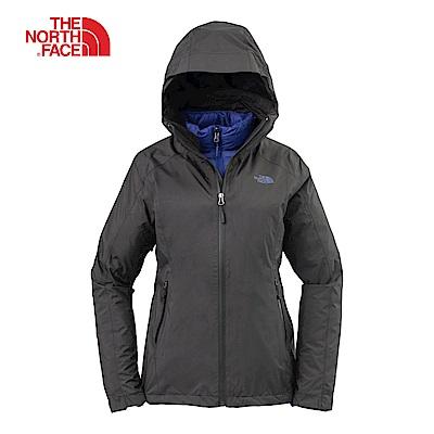 The North Face北面女款黑色防水透氣三合一外套|3KTP7GF