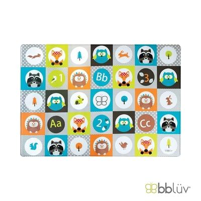 【bbluv】繽紛雙面遊戲地墊 - 動物方糖   格紋防滑、柔彈無毒、防水好清潔