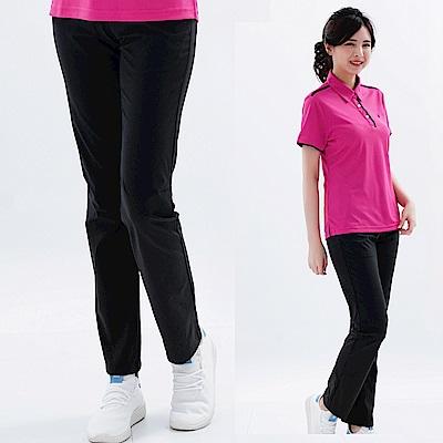【遊遍天下】女款涼爽彈性顯瘦吸排抗UV長褲(黑色)