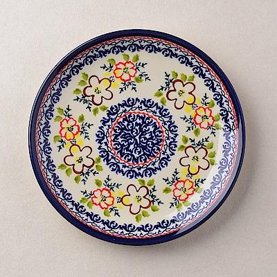 【波蘭陶 Zaklady】 沙漠玫瑰系列 淺底圓形餐盤 19cm 波蘭手工製