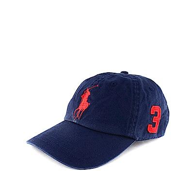 Polo Rlaph Lauren 年度熱銷經典Logo可調式鴨舌帽-深藍色