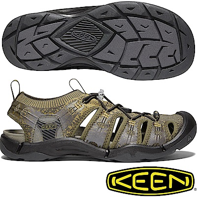 KEEN 1021388橄欖綠 Evofit One男戶外護趾越野涼鞋