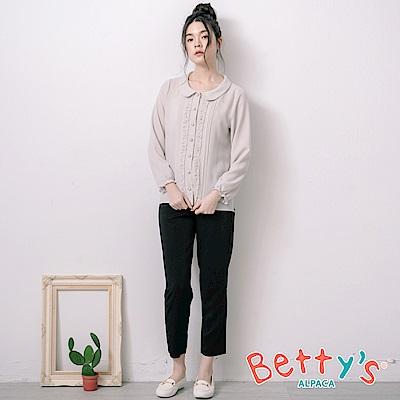 betty's貝蒂思 簡約率性素面長褲(黑色)
