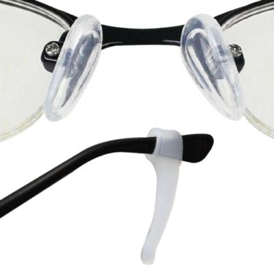 眼鏡配件舒壓組 空力氣浮式鼻墊1對+防滑耳勾1對(大)(贈螺絲起子+鼻墊螺絲)