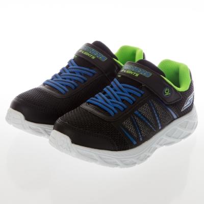 SKECHERS 男童燈鞋系列 DYNAMIC FLASH - 401530LBBLM