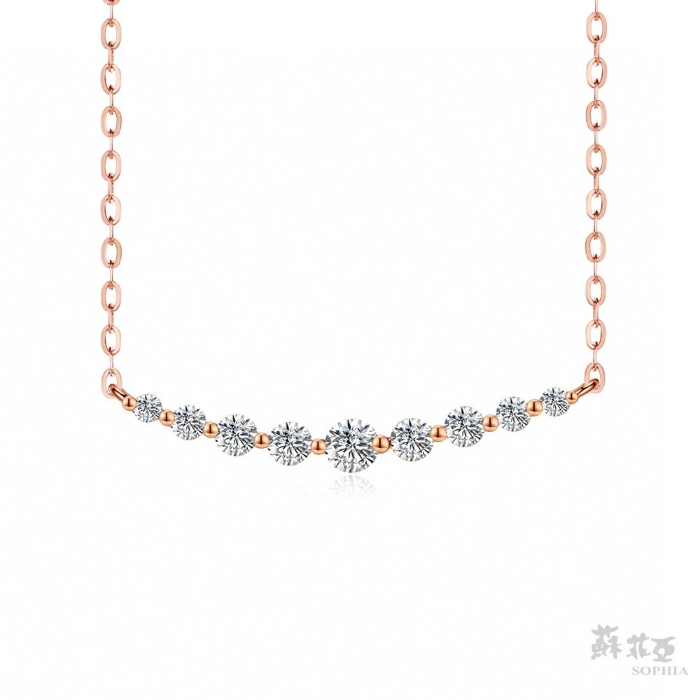 SOPHIA 蘇菲亞珠寶 - 你的微笑 14K玫瑰金 鑽石項鍊