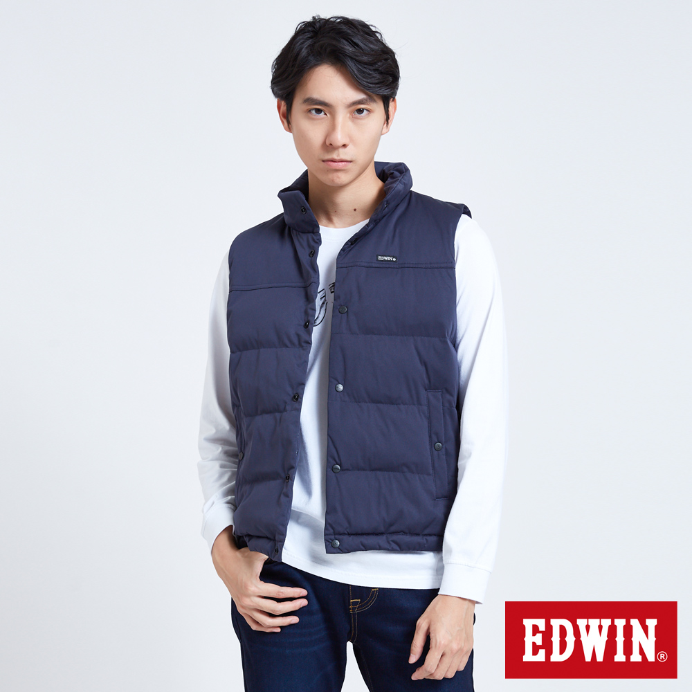 EDWIN 潮流機能 防水鋪棉背心-男-丈青