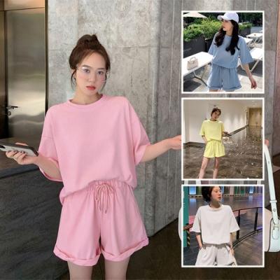 BUNNY LIFE 韓版短袖二件式休閒服短袖褲裝