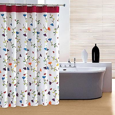 【御工匠】時尚加厚型防水印花浴簾10色