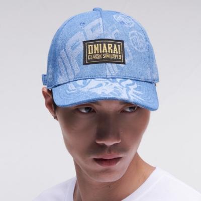鬼洗 BLUE WAY – 大緹織3D鬼頭丹寧棒球帽(淺藍)